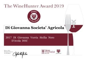 Wine Hunter Award- Vurria Nero d'Avola DOC Sicilia 2017