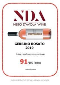 NDA Nero D'Avola Wine Gerbino rosato 2019