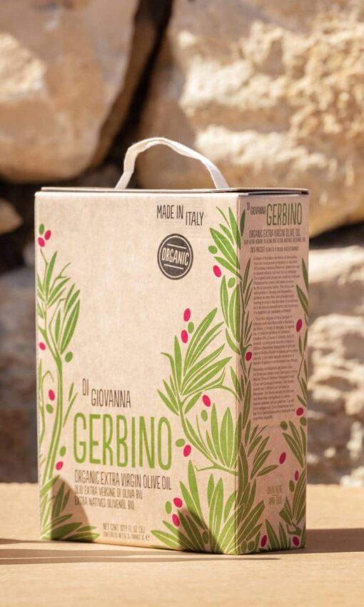 Gerbino Organic Extra Virgin Olive Oil 3 Liter Bag in Box