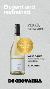 2020 Wine Orbit 92 VurriaGrillo 2019