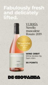 2020 WineOrbit 90 VurriaRosato 2019
